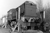 V36 255 ausgeachst im Bahnhof Wesel (1988)