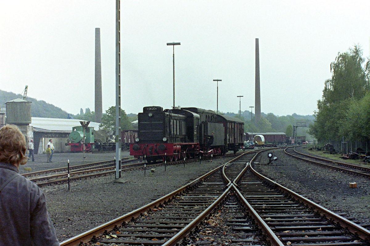V 36 204 im Frühjahr 1990 in Bochum Dahlhausen